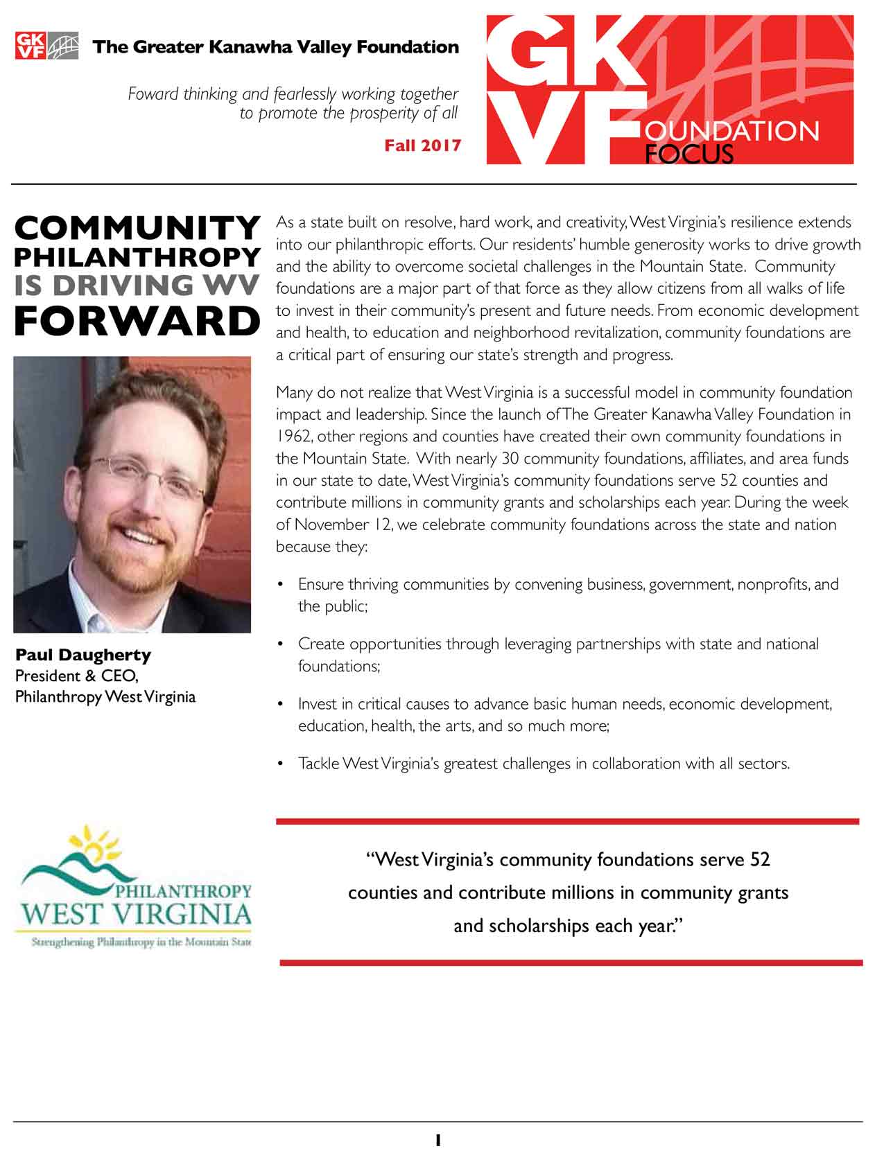 TGKVF Newsletter- Summer 2016 front page